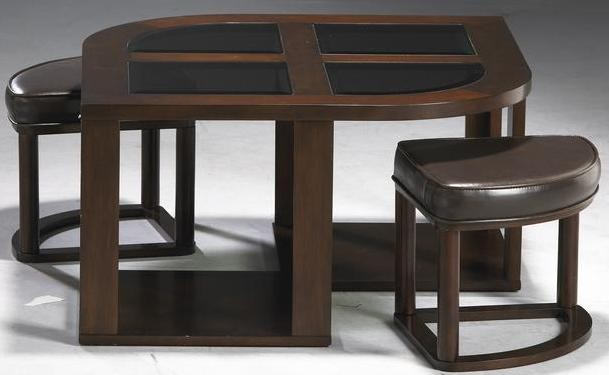 Merlot Cocktail Table With Stools from Jackson