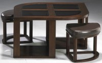 Merlot Cocktail Table With Stools from Jackson | Coleman ...