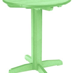 Lime Green Bistro Chairs Ikea Hanging Swing Chair Generations 32 Quot Round Pub Height Pedestal Table