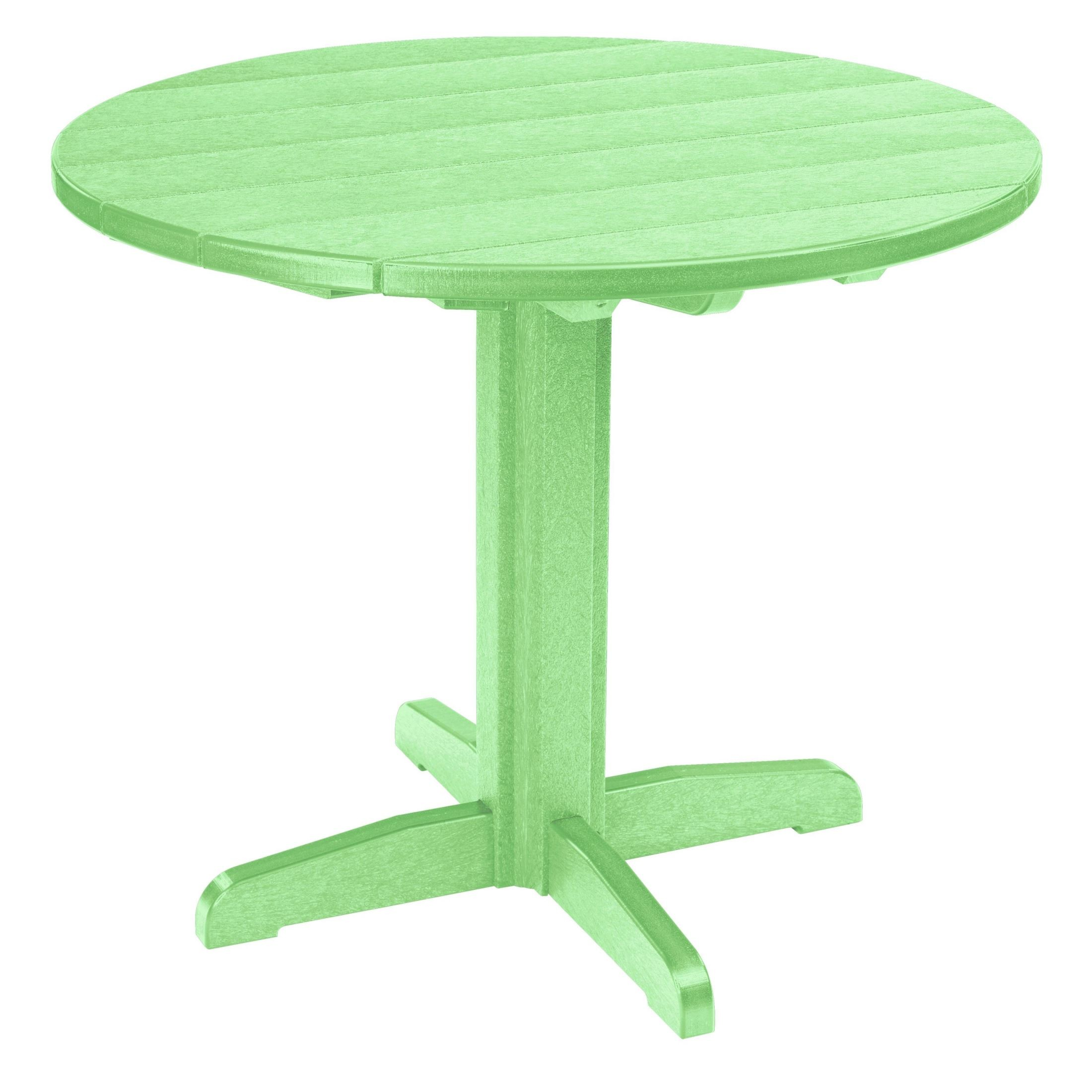 Generations Lime Green 37 Round Pedestal Dining Table