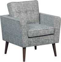 Mid Century Modern Lagoon Textured Accent Chair from ...