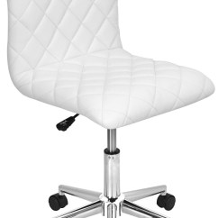 Adjustable Floor Chair With 5 Settings Comfort Lift Caviar White Office From Lumisource