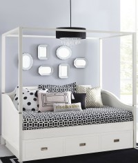 Tinley Park Soft White Full Canopy Daybed With Trundle ...