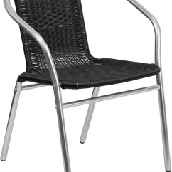 Black Rattan Chair Home Loft Concept Aluminum And Commercial Indoor Outdoor