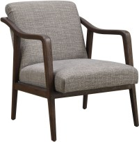Mid Century Kendrick Driftwood Wood Frame Accent Chair ...