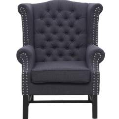 Grey Club Chair Wheelchair Zinger Fairfield Linen From Tov 63102