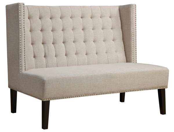 Upholstered Dining Bench Banquette with Back