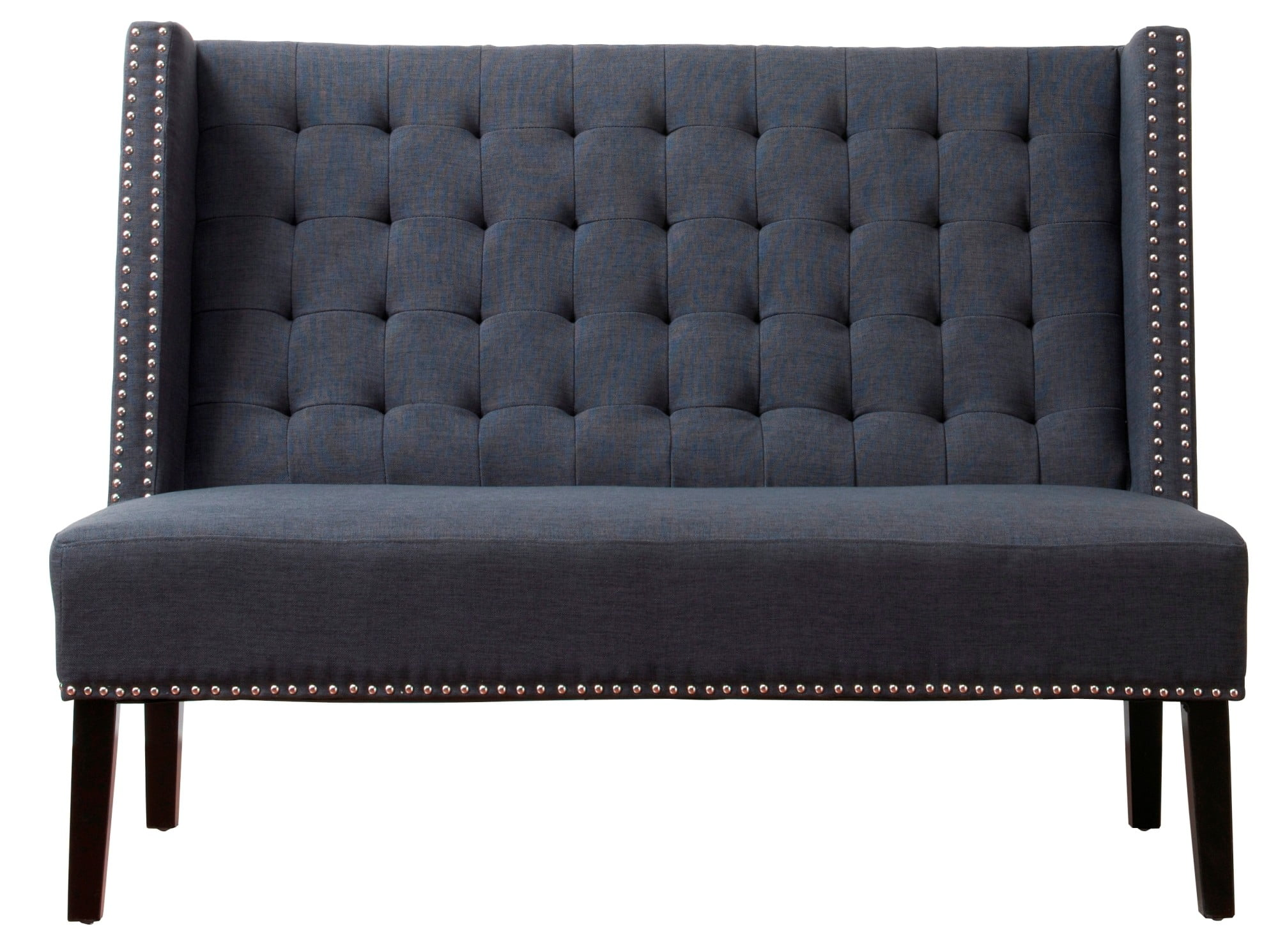 Halifax Grey Linen Banquette Bench from TOV (TOV