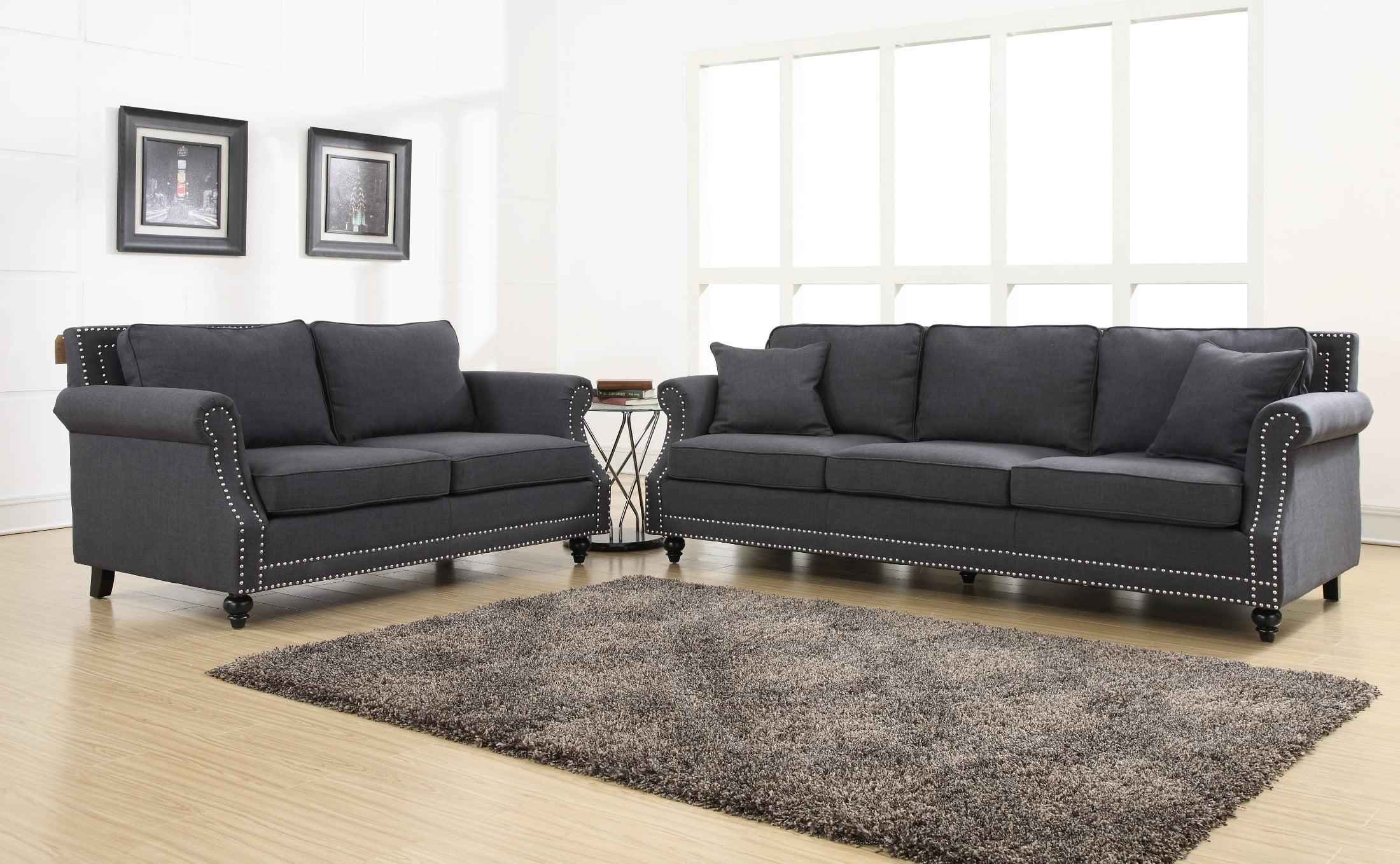 Camden Grey Linen Sofa from TOV (TOV
