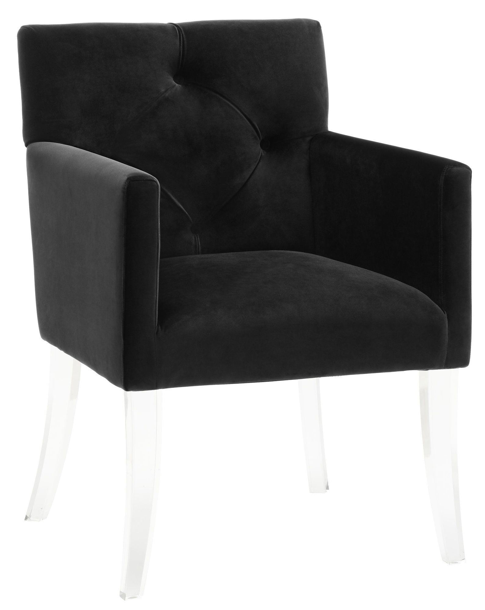 Acrylic Chair Lafayette Black Velvet Acrylic Chair A101 Tov Furniture