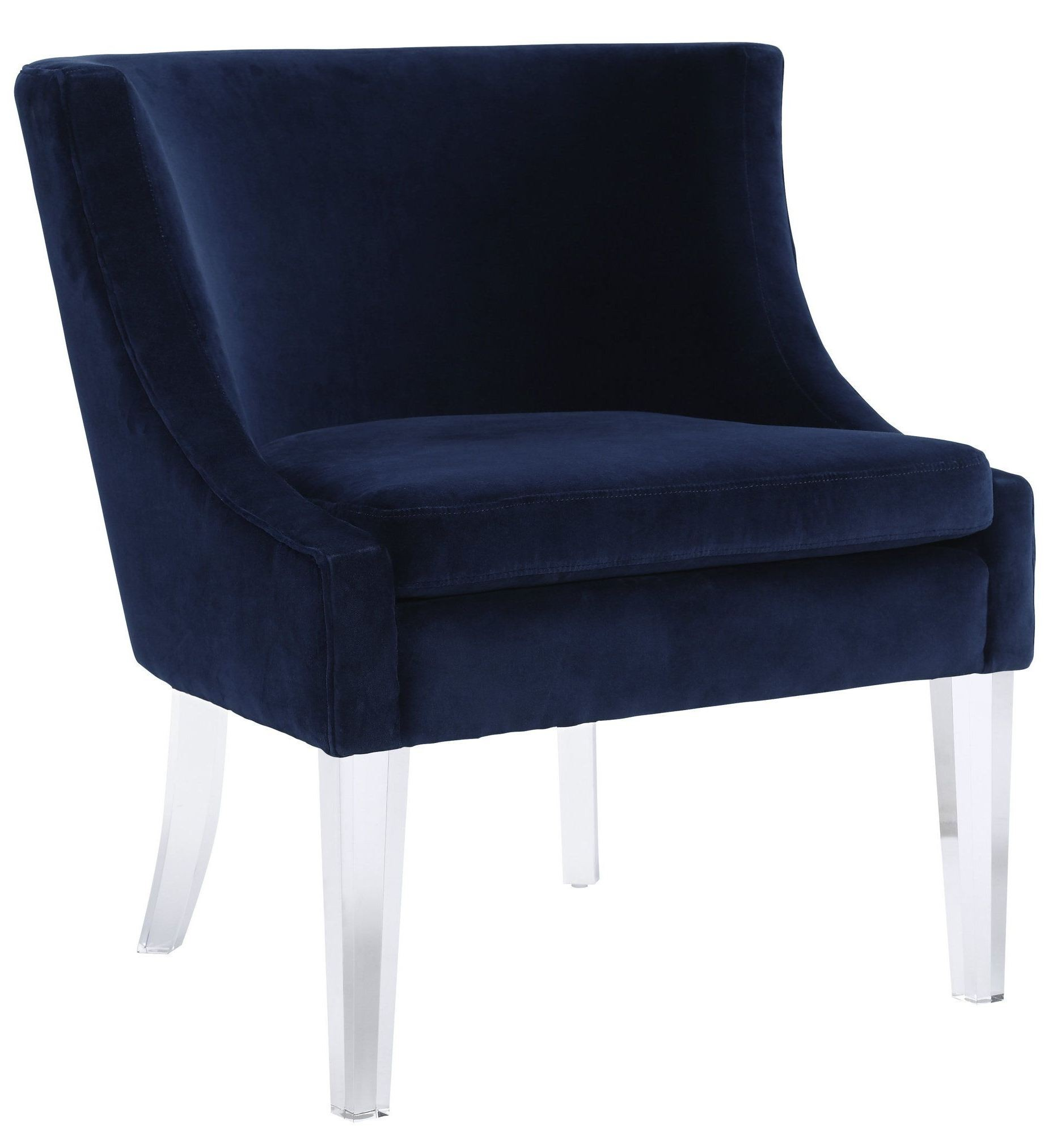 Blue Velvet Chair Myra Blue Velvet Chair From Tov Coleman Furniture