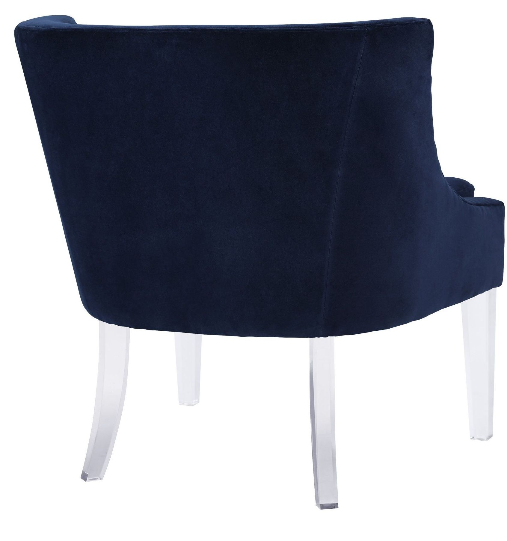 Blue Velvet Chair Myra Blue Velvet Chair A105 Tov Furniture