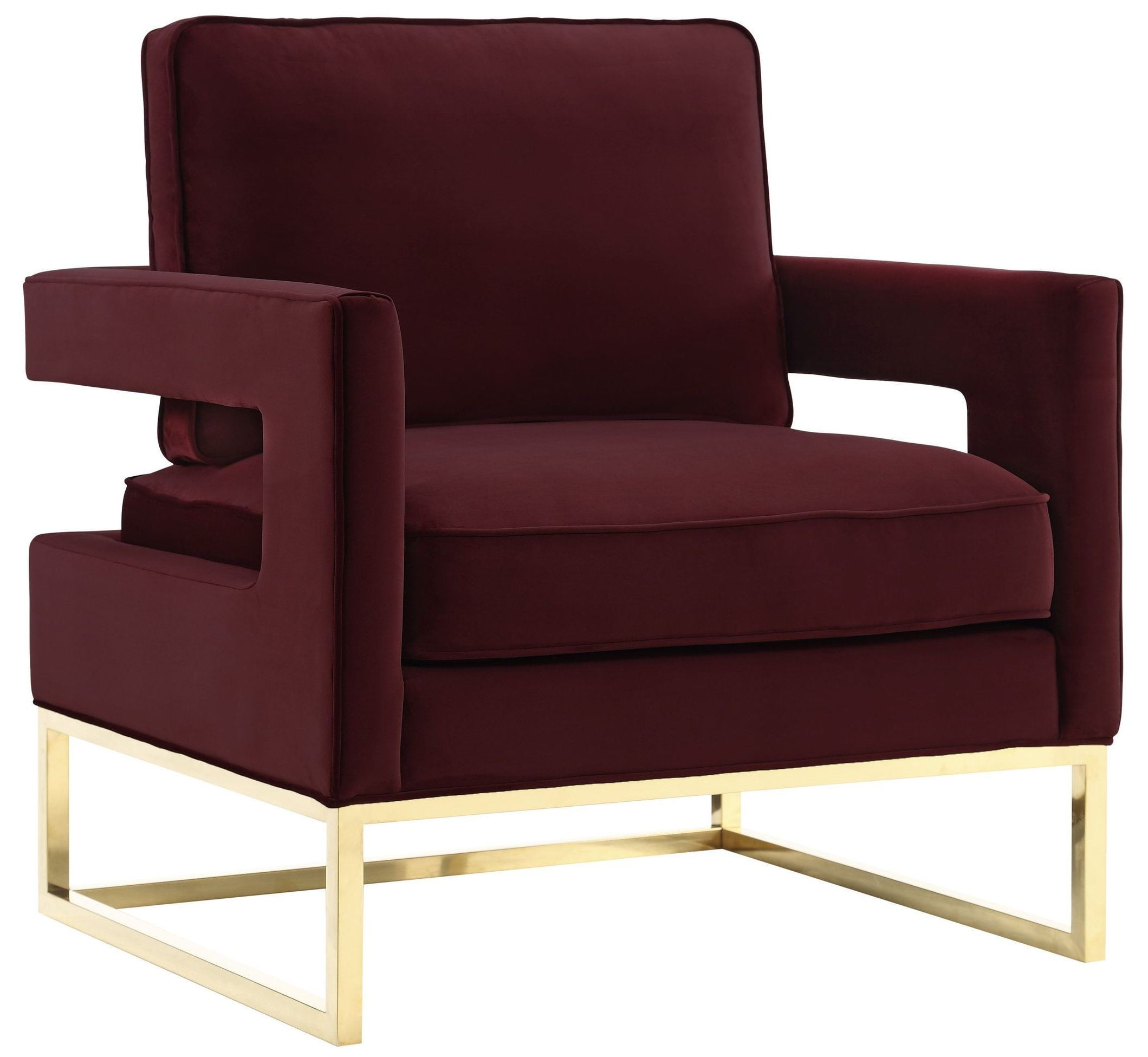 maroon office chairs wood high chair canada avery velvet from tov coleman furniture