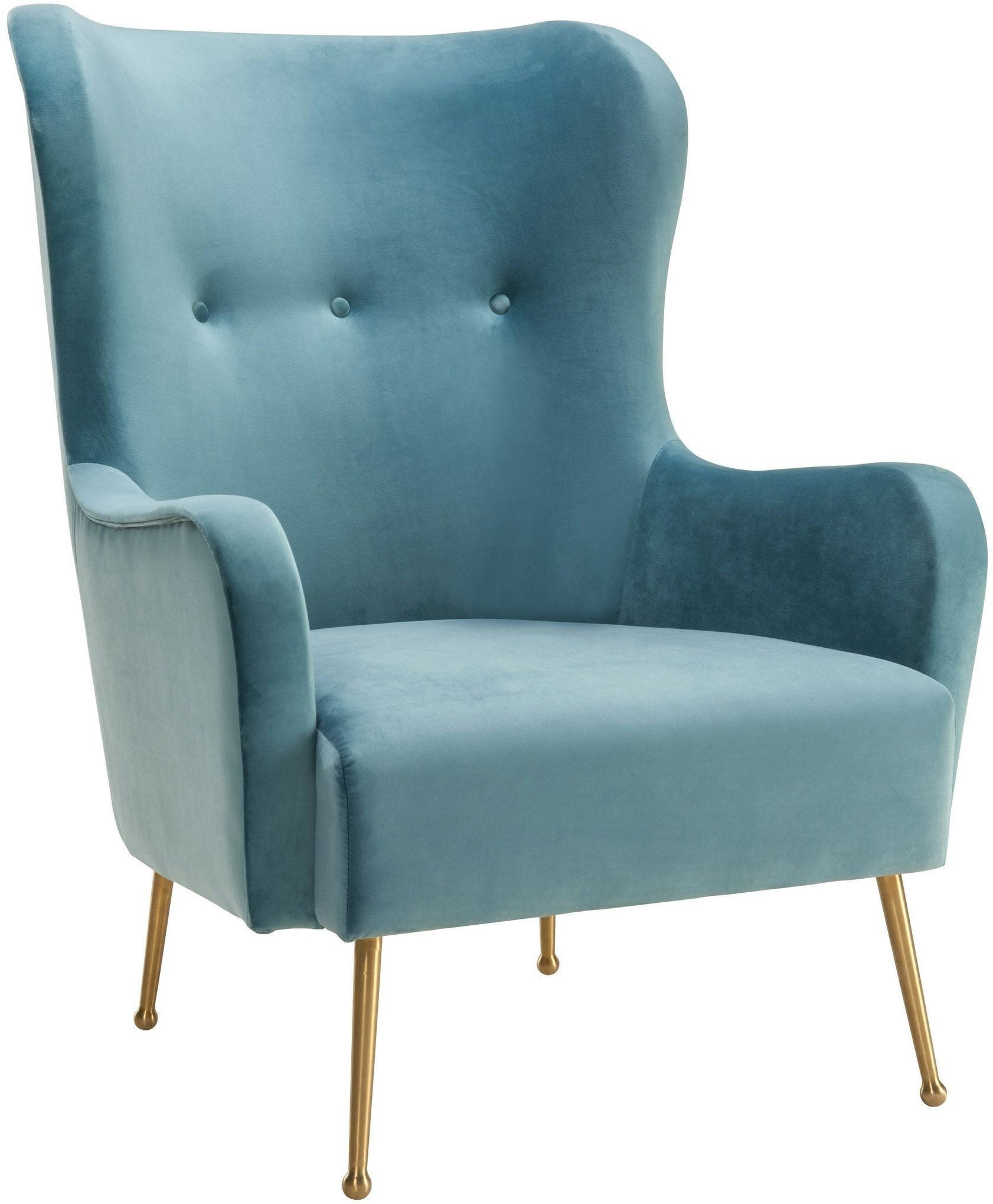 Blue Velvet Chair Ethan Sea Blue Velvet Chair From Tov Coleman Furniture