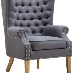 Grey Wing Chair Recliner Chairs For Elderly Abe Linen From Tov A2040 Coleman