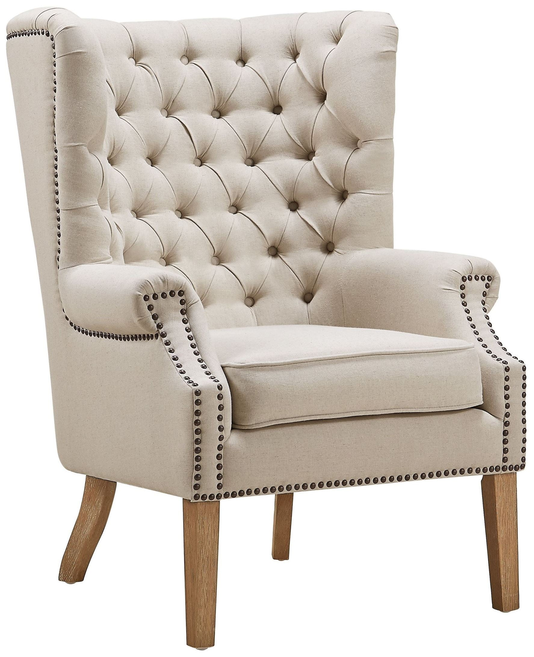 Wing Chair Abe Beige Linen Wing Chair From Tov Tov A2041 Coleman