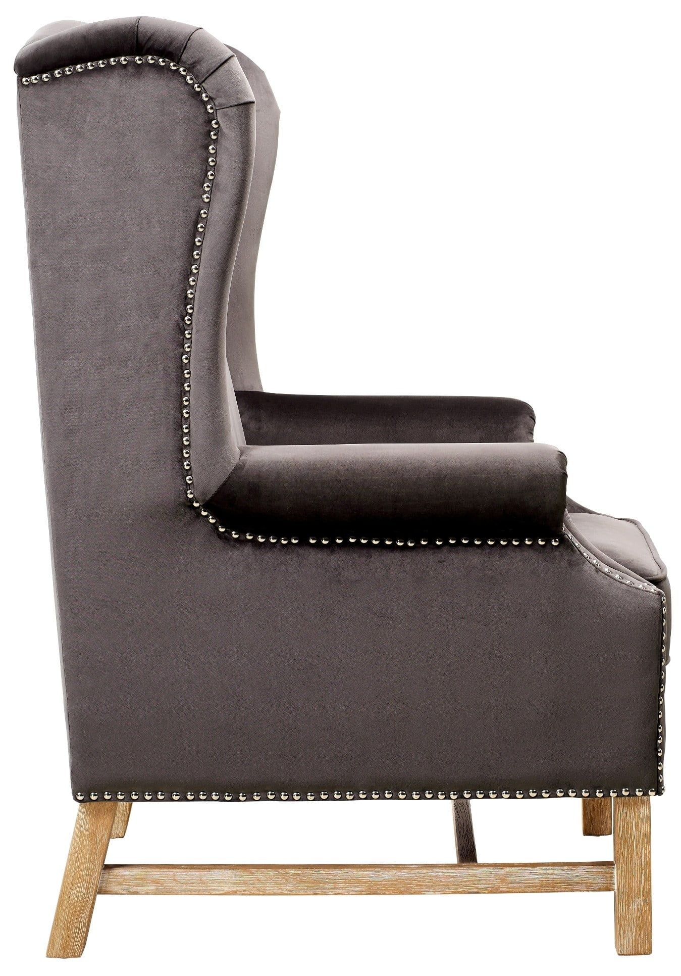 Gray Velvet Chair Nora Grey Velvet Chair From Tov A2043 Coleman Furniture