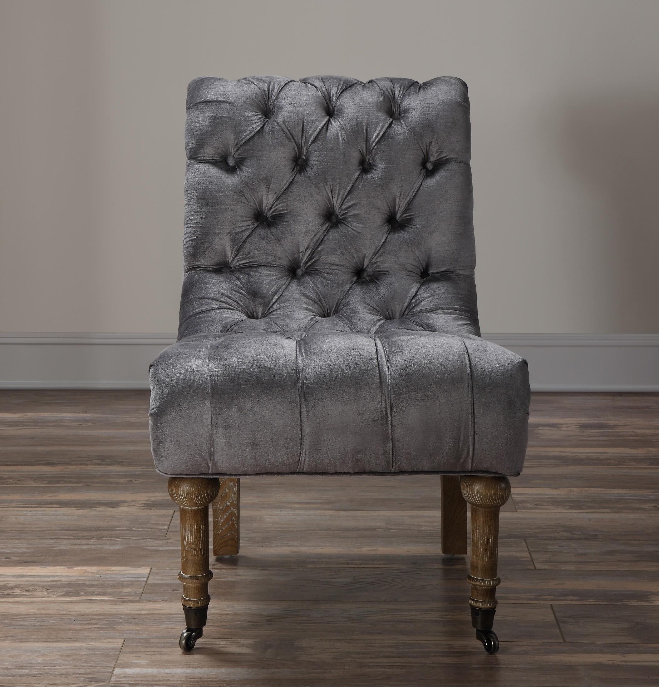 grey velvet slipper chair buy christmas covers vivi from tov a41