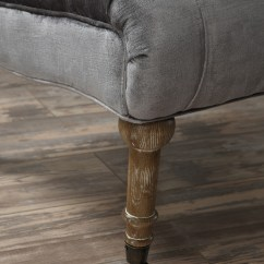 Grey Velvet Slipper Chair Dining Room Chairs With Casters Vivi From Tov A41