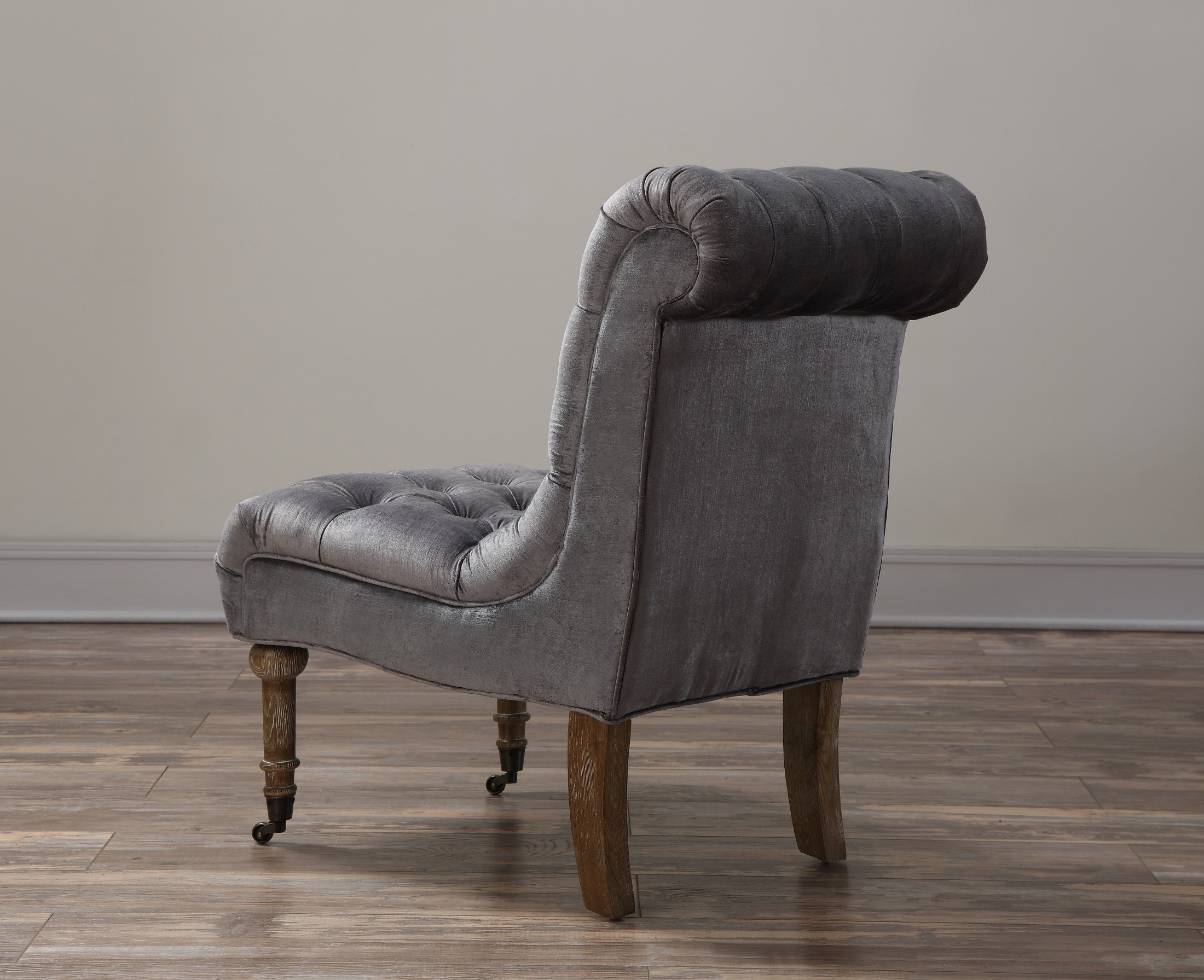 grey velvet slipper chair wedding covers hire oxfordshire vivi from tov a41