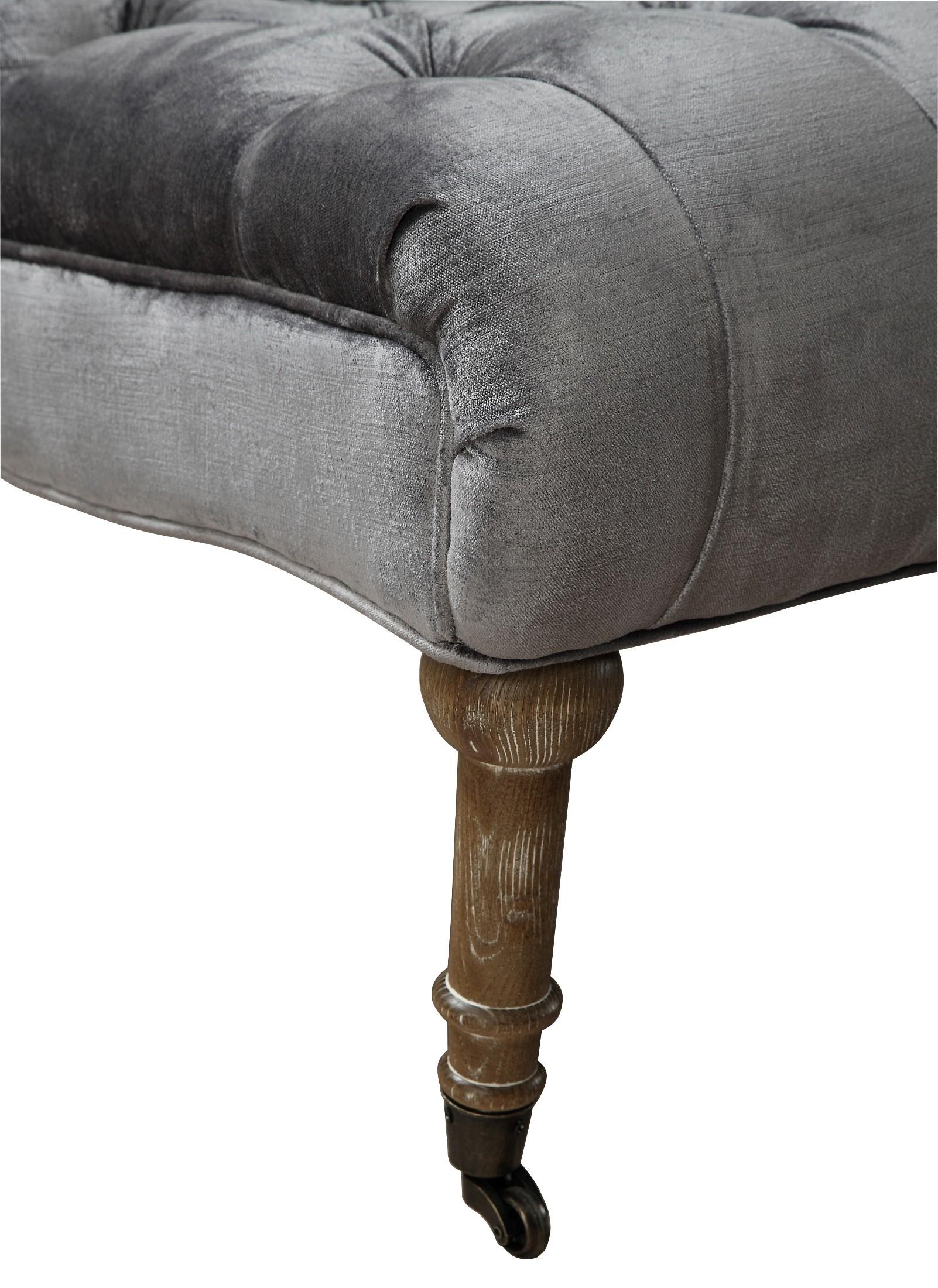 grey velvet slipper chair ikea garden covers vivi from tov a41