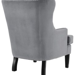 Grey Wing Chair Stressless Recliner Chairs Reviews Soho Velvet A92 Tov Furniture