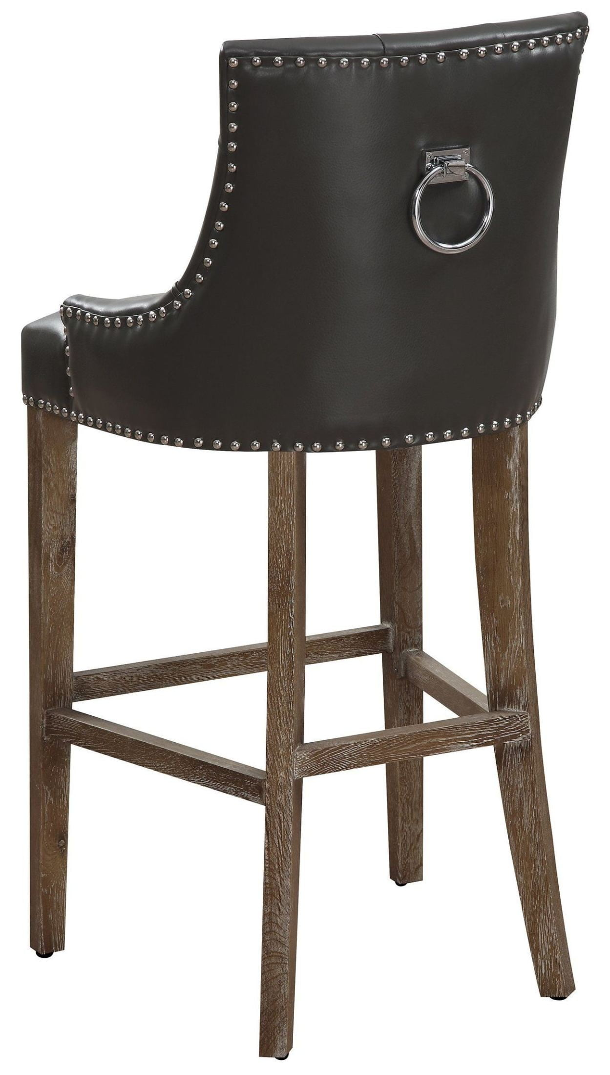 bar stool chair grey outdoor bistro chairs uptown leather counter bs16 tov furniture