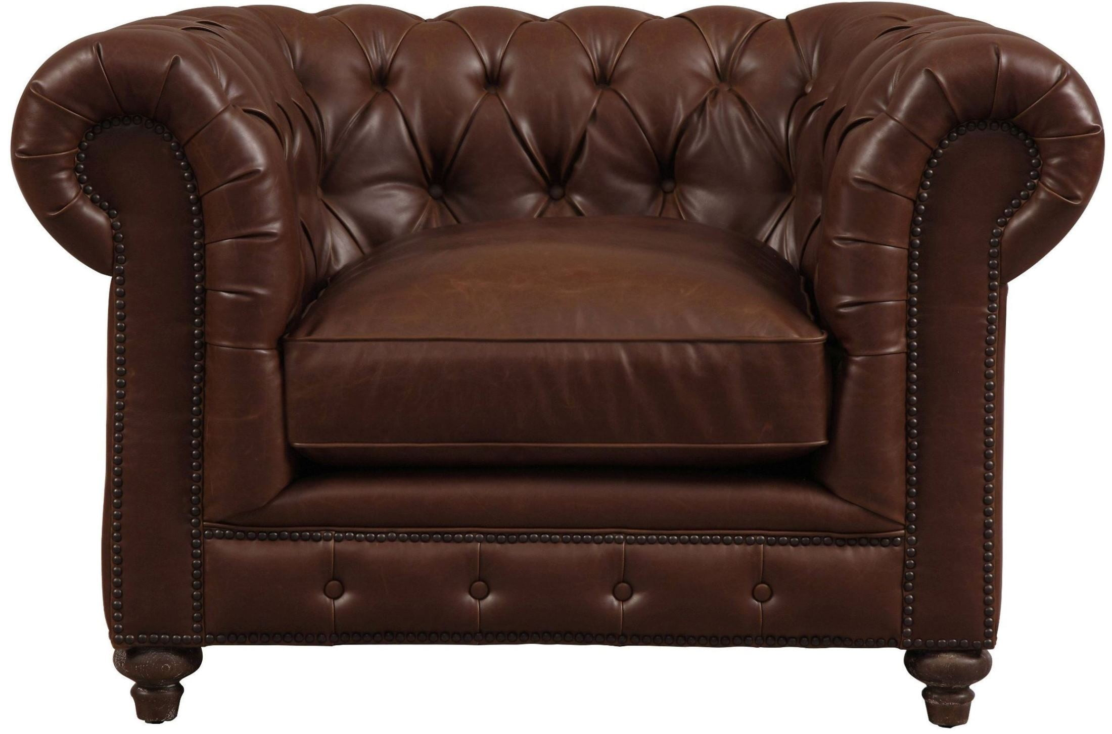 Durango Antique Brown Leather Club Chair from TOV