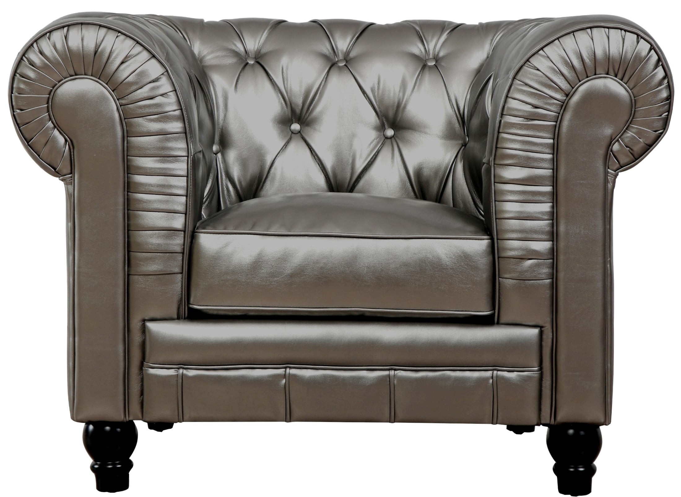 Leather Club Chair Zahara Silver Leather Club Chair From Tov Tov C40