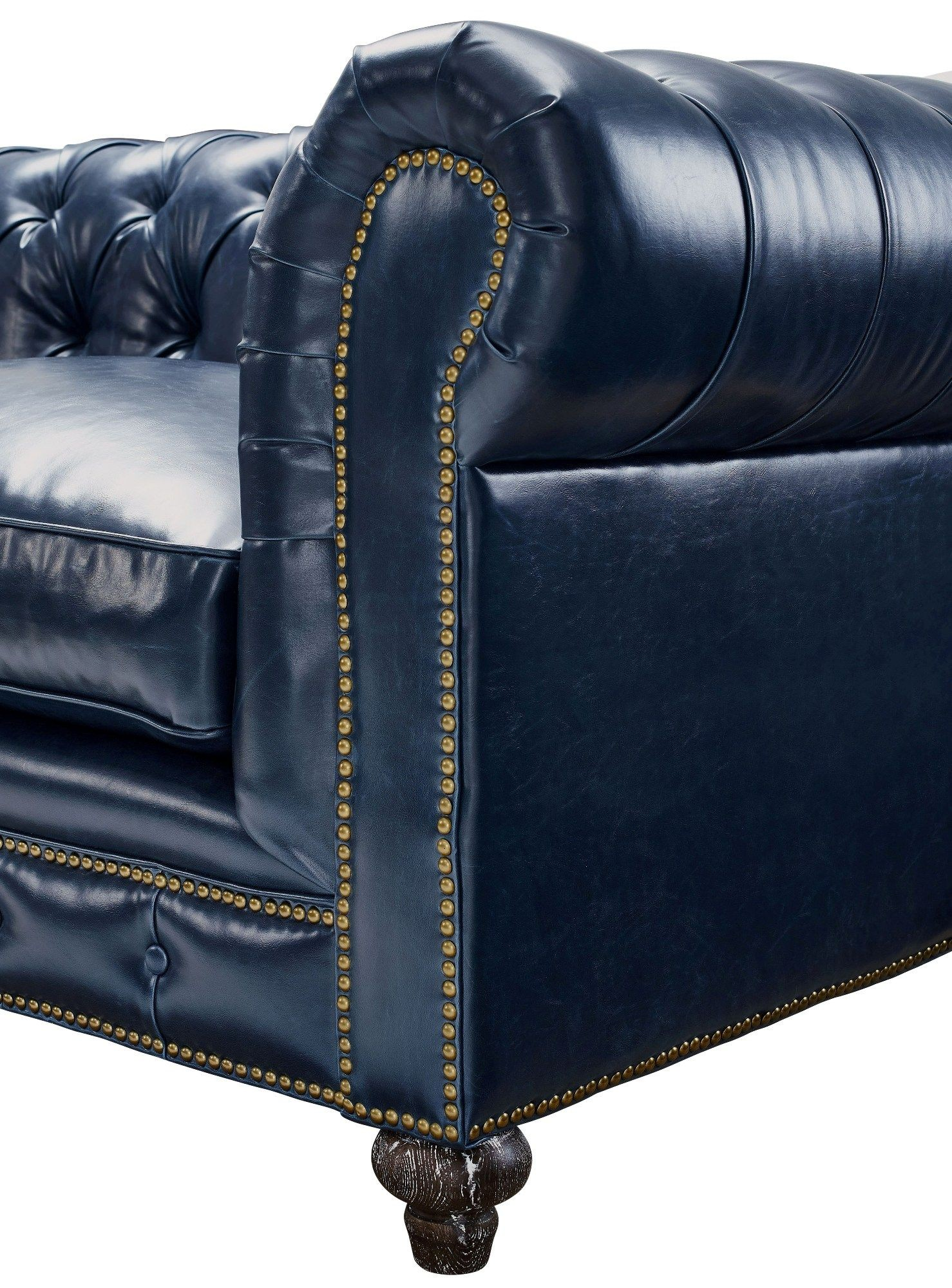 Blue Leather Club Chair Durango Rustic Blue Leather Club Chair From Tov C45