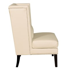 Cream Leather Accent Chairs Malibu Blue Chair Covers Chelsea Wing From Tov Che Cbl
