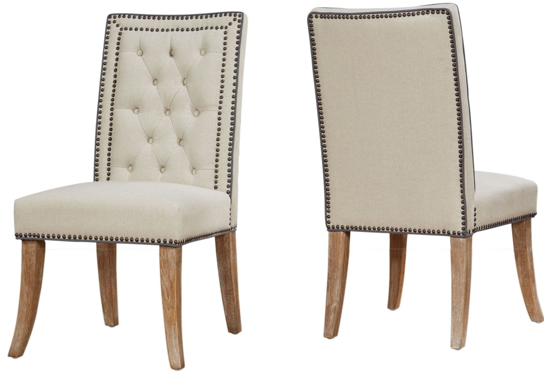 beige dining chairs swivel rocking for patio garrett linen chair set of 2 from tov