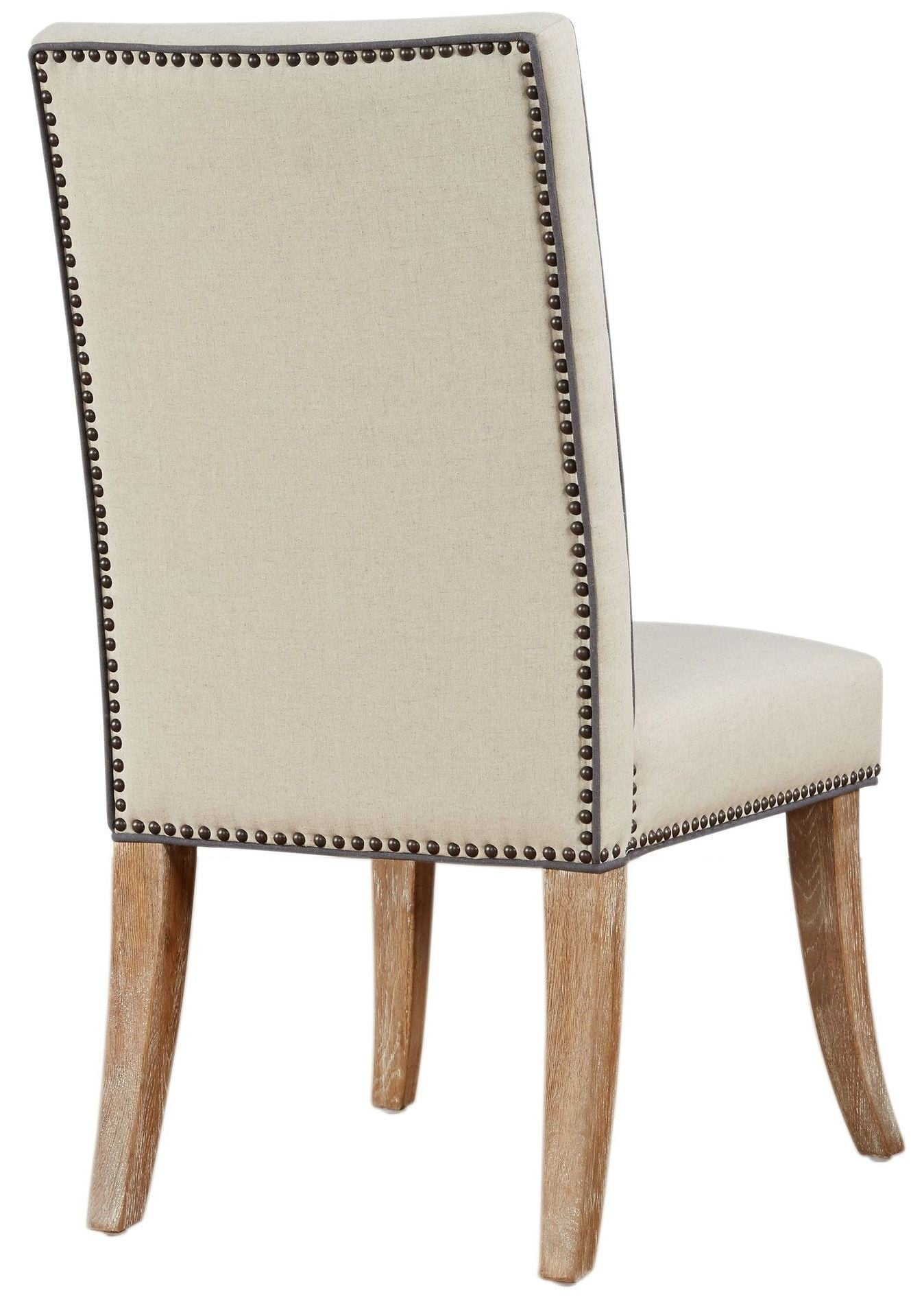 beige dining chairs folding chair weight limit garrett linen set of 2 d2046 tov