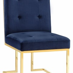 Navy Dining Room Chairs Swivel Chair Uk Akiko Velvet Set Of 2 From Tov Coleman Furniture