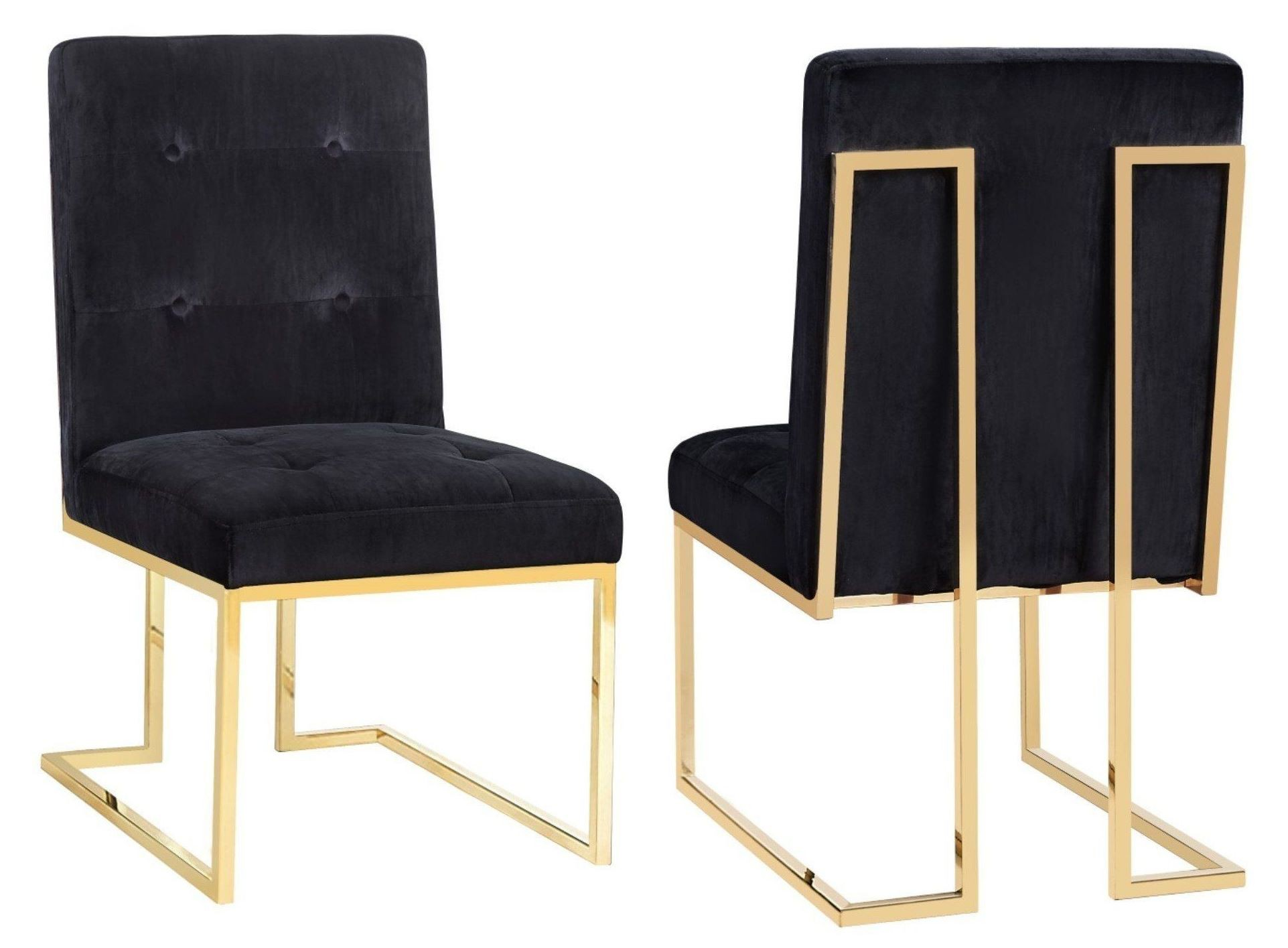 black velvet chair toddler table and chairs argos ireland akiko set of 2 from tov coleman furniture