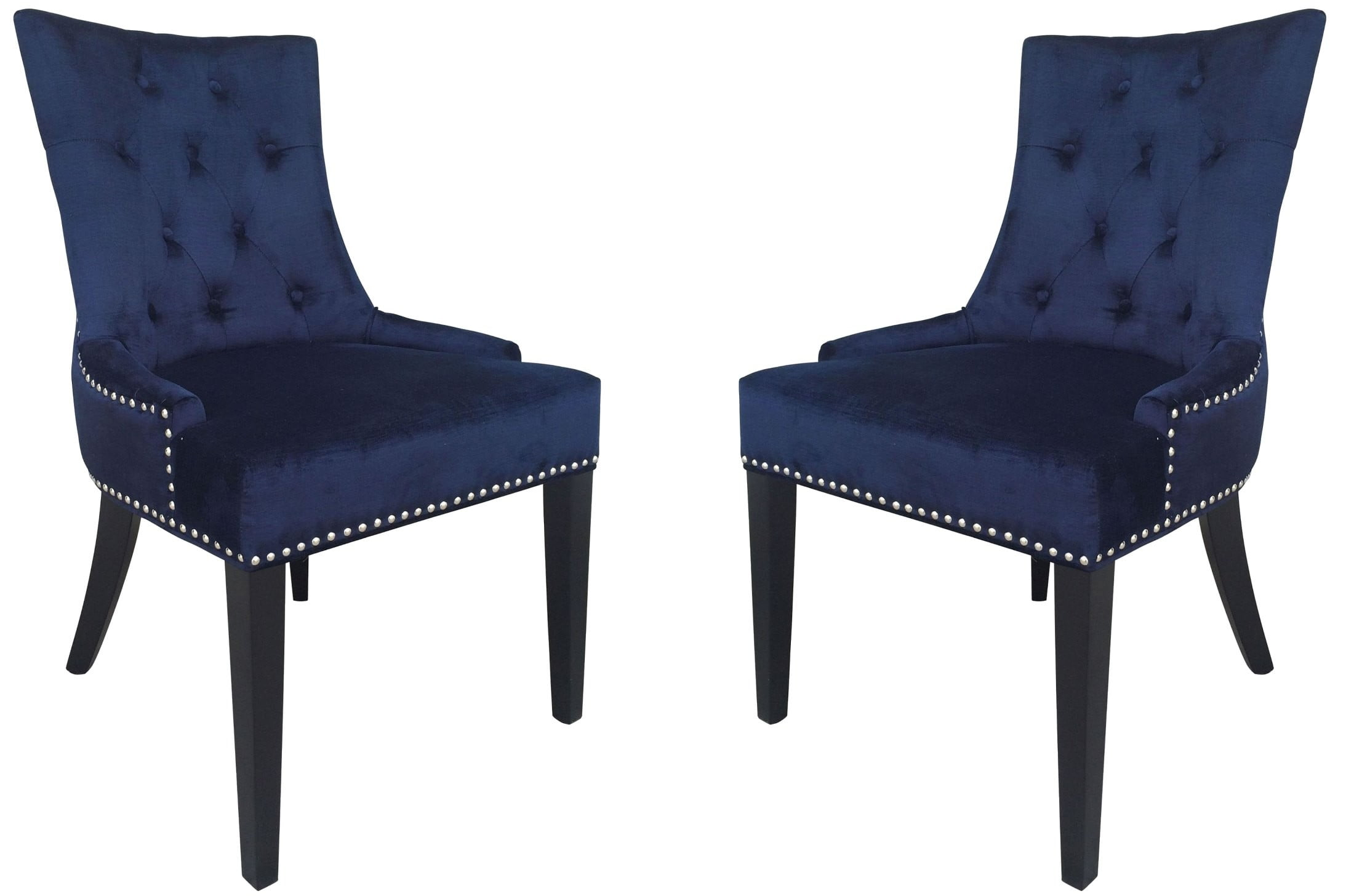 Navy Dining Room Chairs Uptown Navy Velvet Dining Chair Set Of 2 From Tov D30