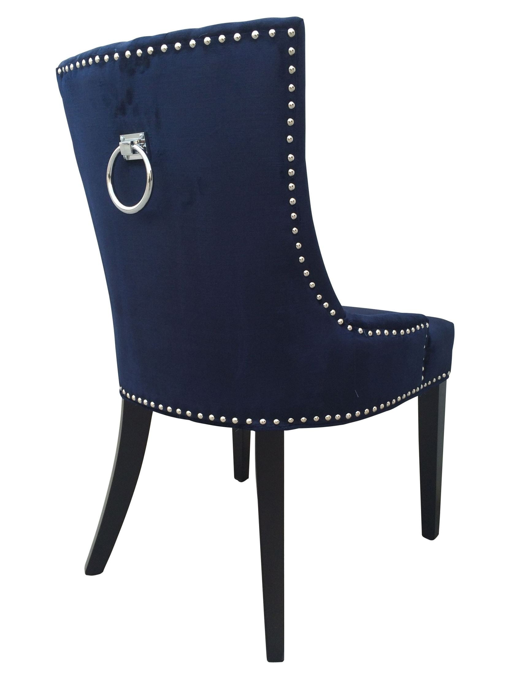 navy dining room chairs desk chair back support uptown velvet set of 2 from tov d30