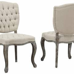 Beige Dining Chairs Wing Chair Recliner Amelia Linen Weathered Oak Set Of 2