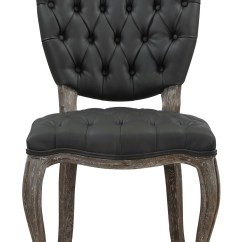 Gray Leather Dining Chairs Hardwood Floor Chair Protectors Amelia Grey Weathered Oak Set Of 2
