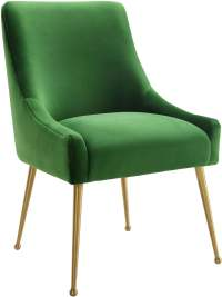 Beatrix Green Velvet Side Chair from TOV | Coleman Furniture