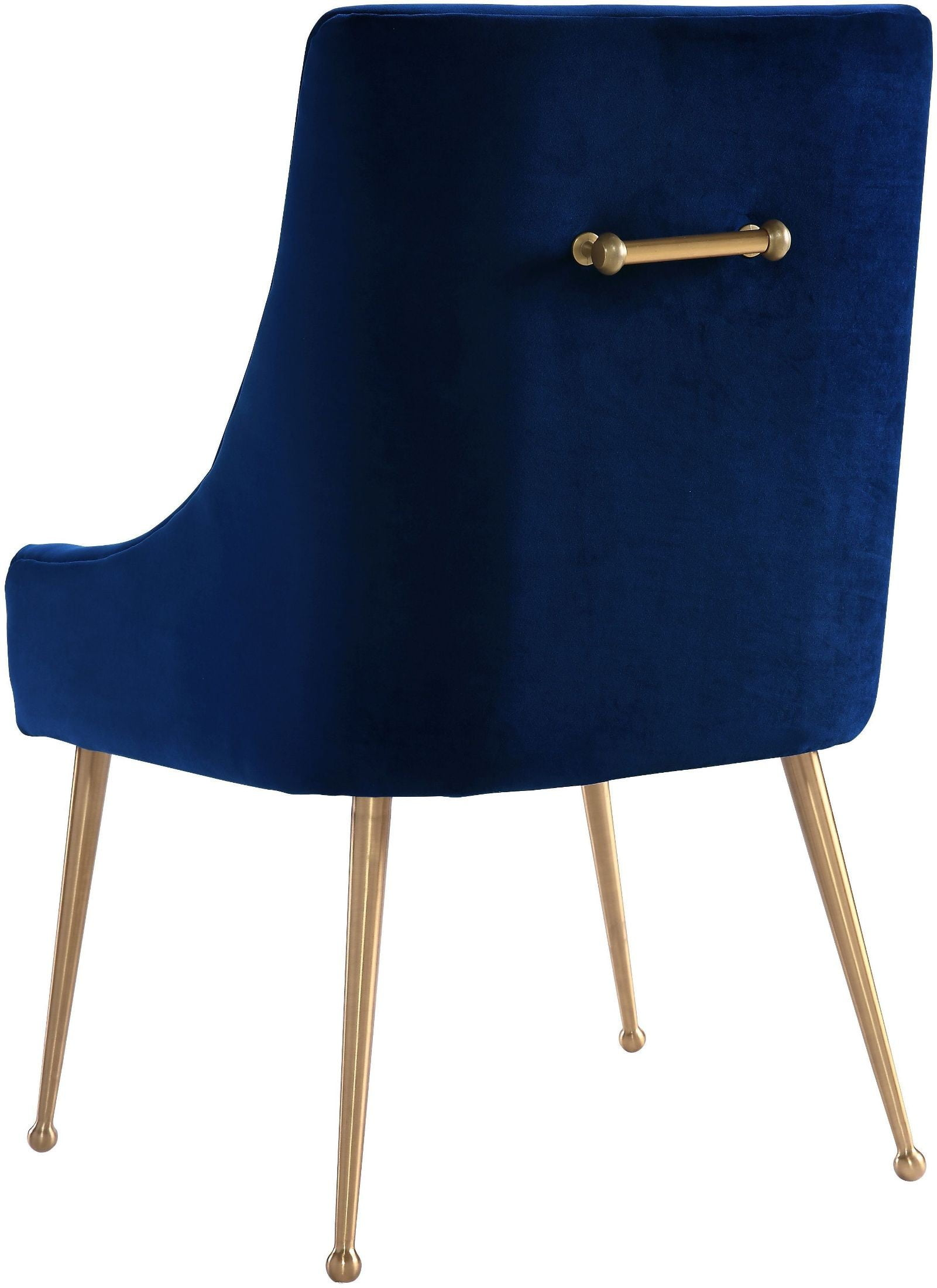 navy blue dining chairs set of 2 refinish rocking chair beatrix velvet side d48 tov furniture