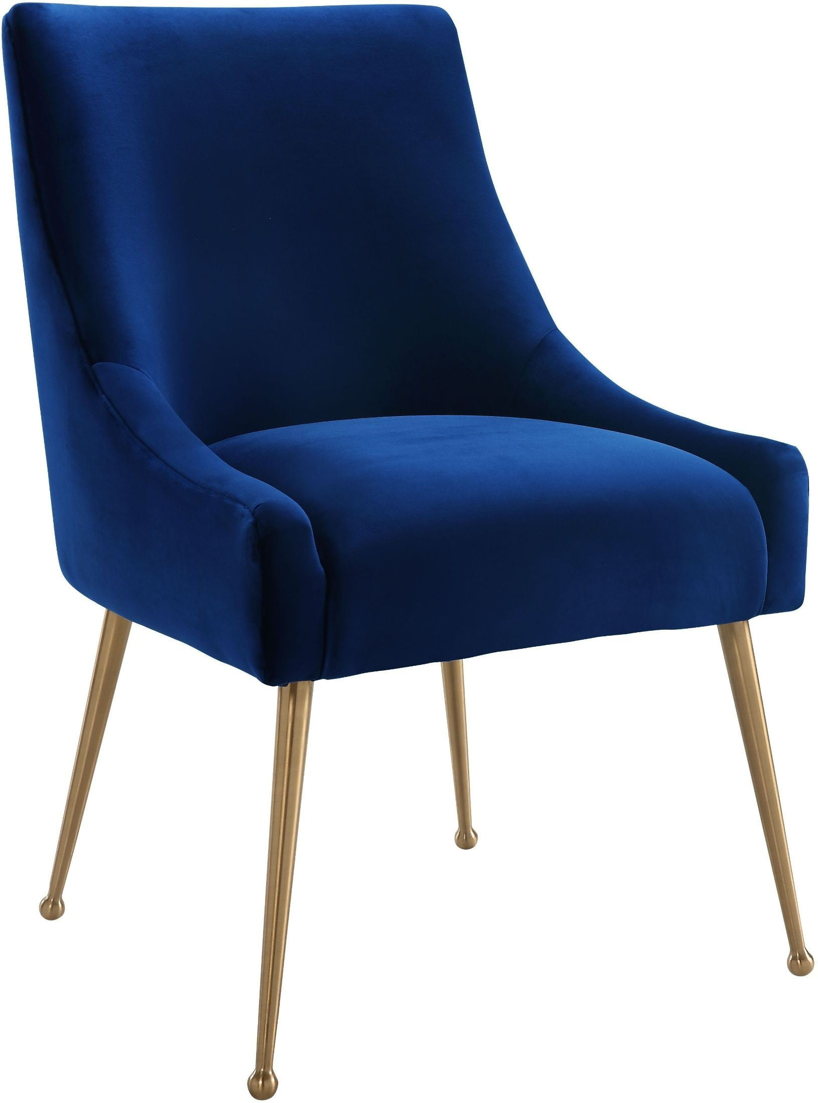 Beatrix Navy Velvet Side Chair from TOV  Coleman Furniture