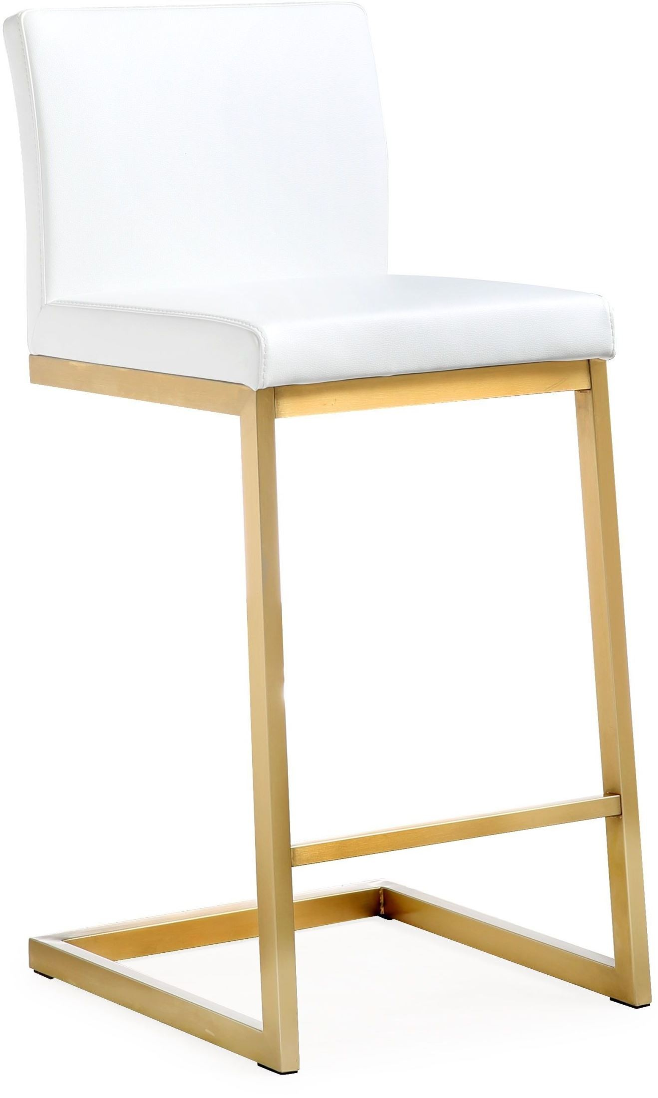 White And Gold Chair Parma White Gold Steel Counter Stool Set Of 2 From Tov