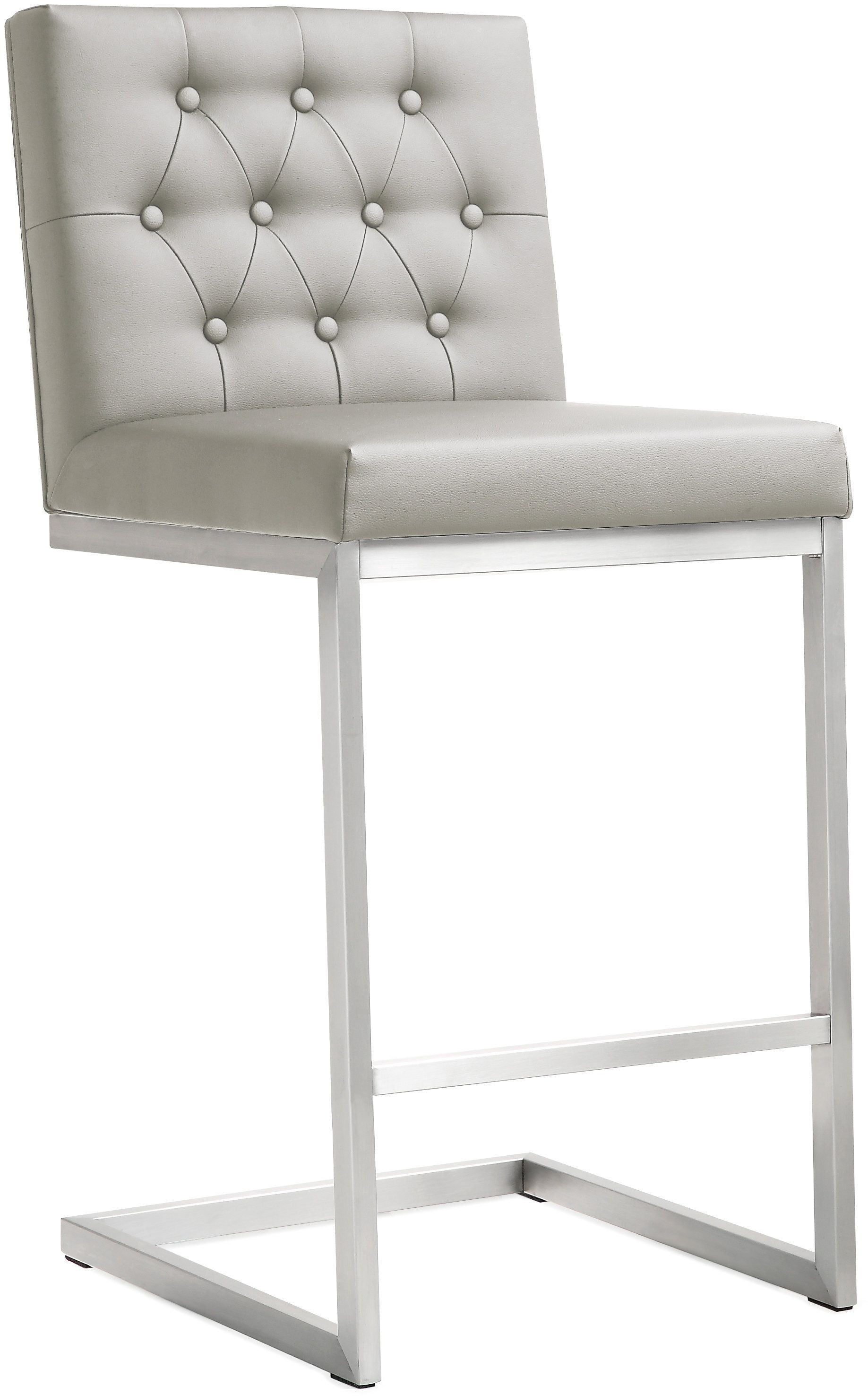 bar stool chair grey flip convertible sleeper helsinki light gray steel counter set of 2 from tov