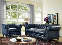 Durango Rustic Blue Leather Living Room Set from TOV (S38 ...