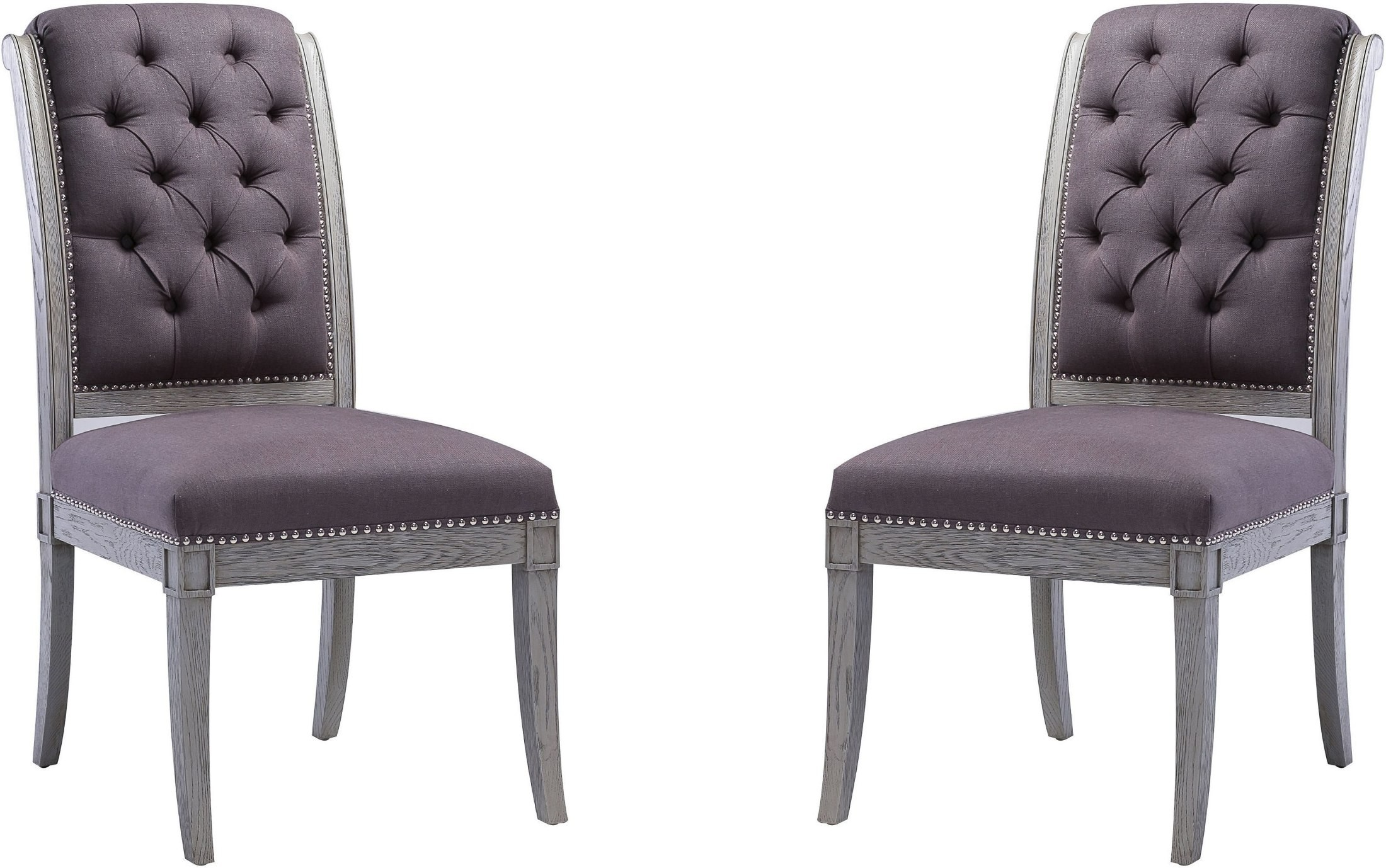 Grey Side Chair Addington Grey Linen Side Chair Set Of 2 From Tov