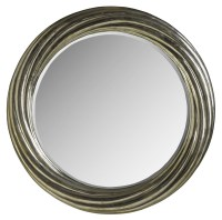 Treviso Small Round Mirror from Brownstone (TR018 ...