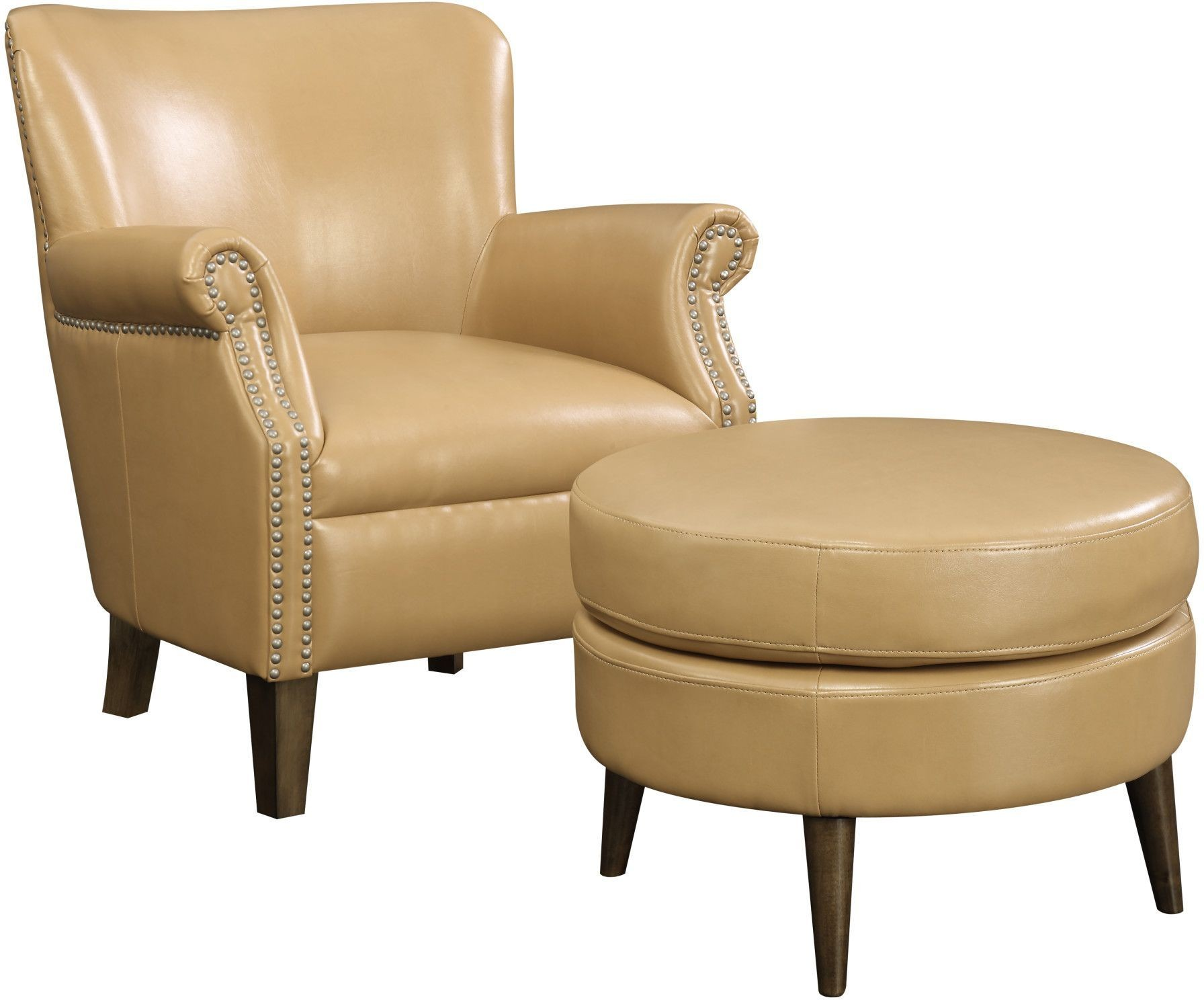 brown accent chair with ottoman used patio chairs for sale oscar saddle and from emerald