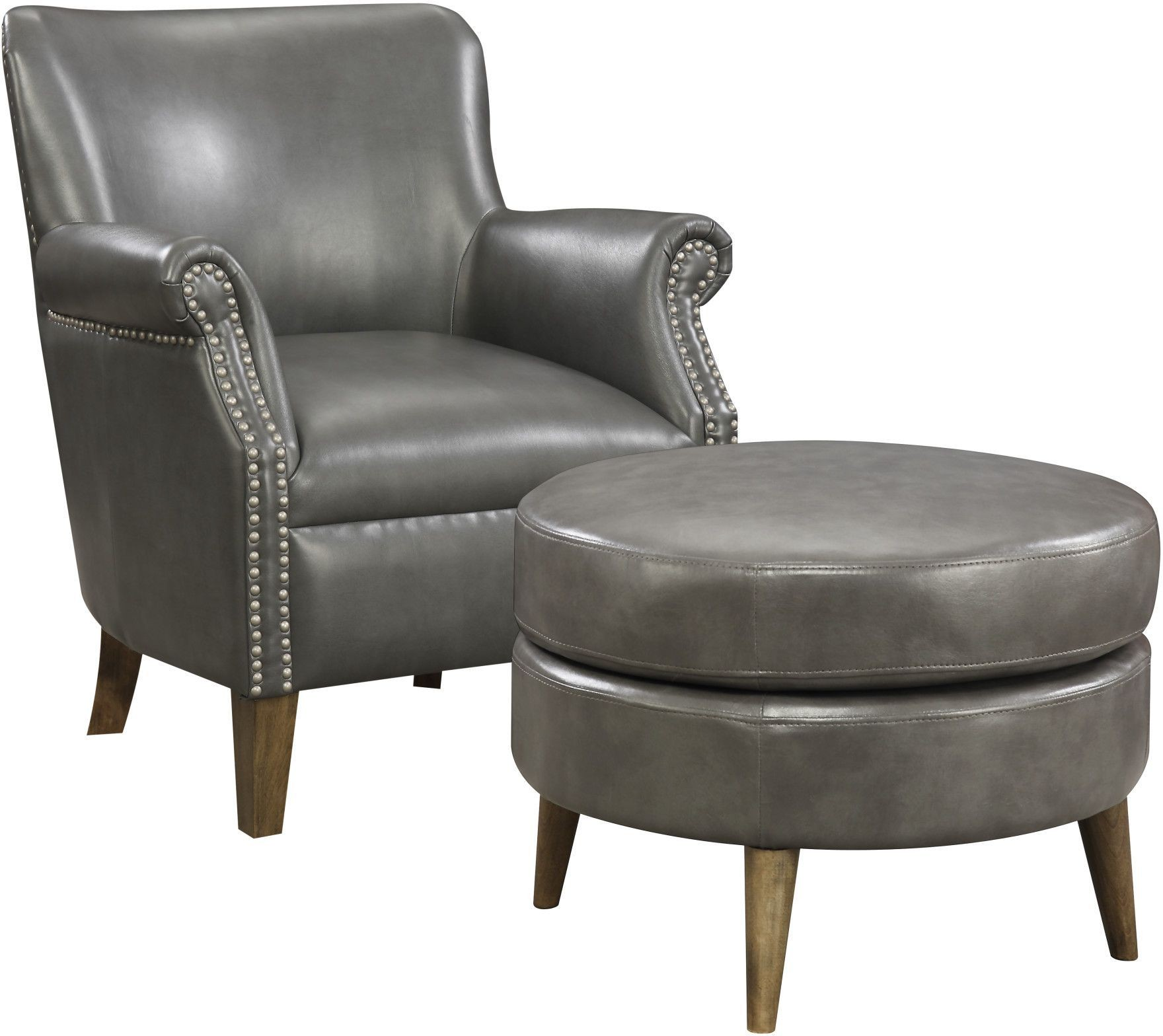 accent chairs with ottoman costco chair mat oscar dark gray and from emerald home