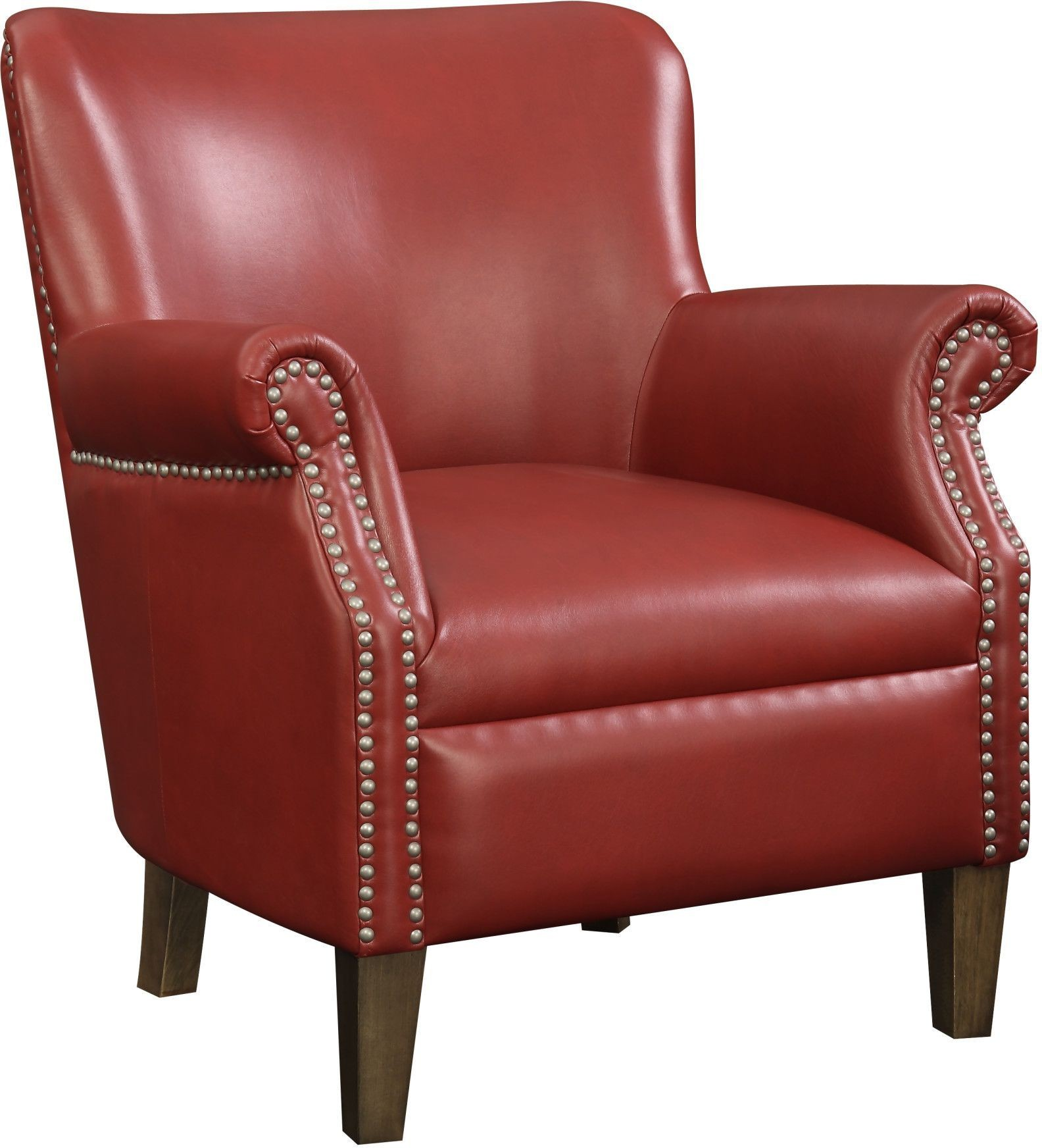 Red And White Accent Chair Oscar Red Accent Chair From Emerald Home Coleman Furniture